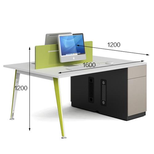 Single Adjustable Office Workstation with Storage Image 9