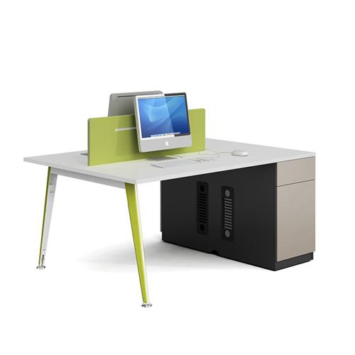 Single Adjustable Office Workstation with Storage