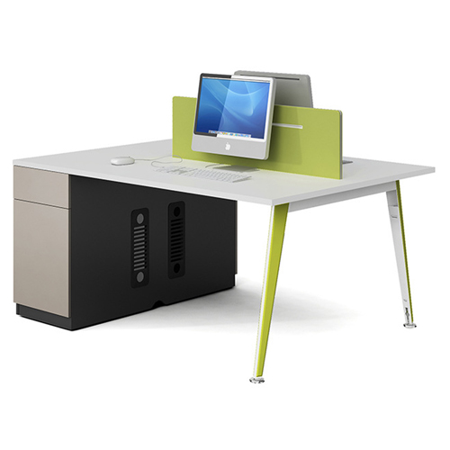 Single Adjustable Office Workstation with Storage Image 3