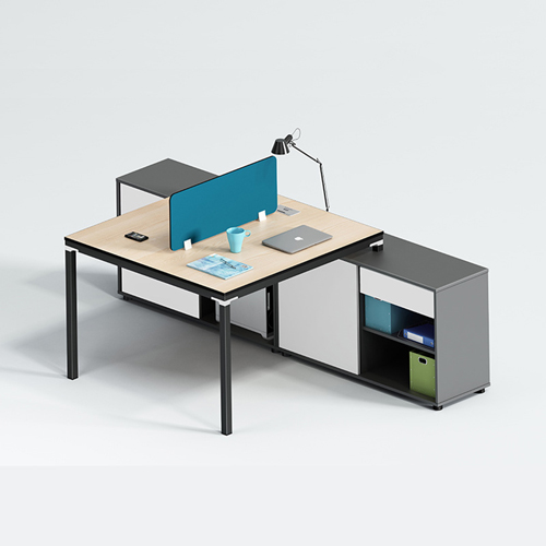 Combination Card Office Staff Table with Cabinet