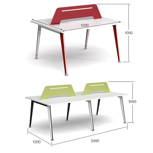 Adjustable Height Office Screen Desk Image 12