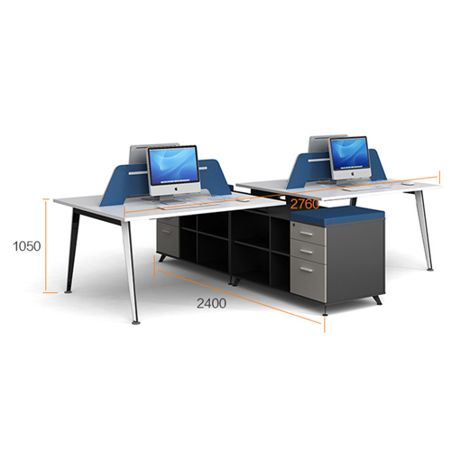 Linear Style Staff Screen Partition Workstation Image 10