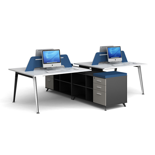Linear Style Staff Screen Partition Workstation Image 1