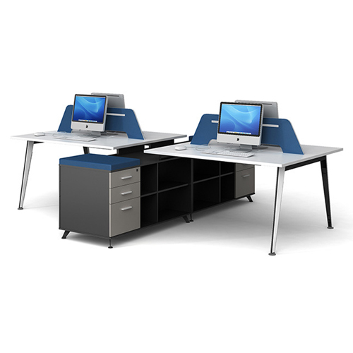 Linear Style Staff Screen Partition Workstation Image 4
