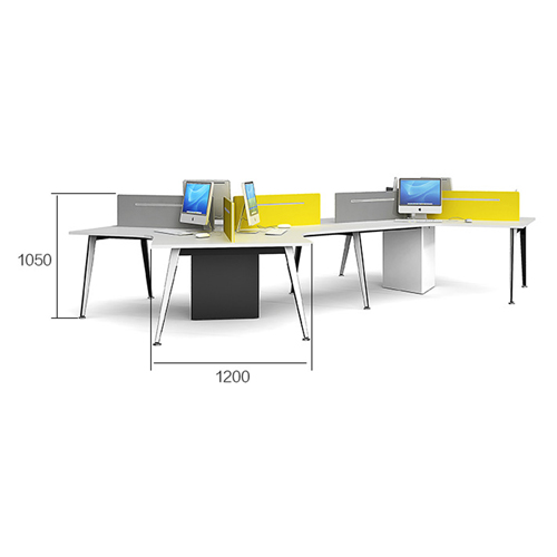 Triangle Stylish Custom Modular Office Staff Desk Image 11