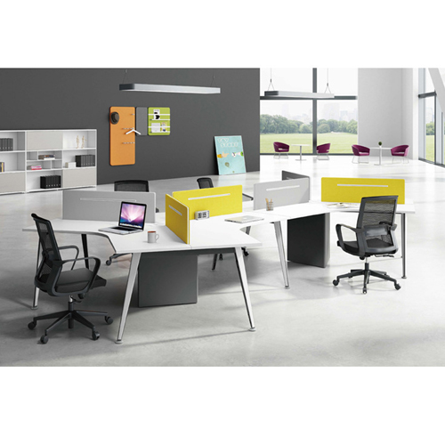Triangle Stylish Custom Modular Office Staff Desk Image 3