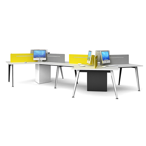 Triangle Stylish Custom Modular Office Staff Desk Image 4
