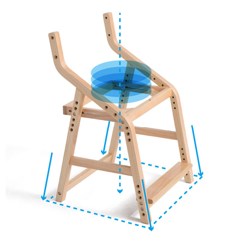 Wooden Adjustable Kids Chair Image 18