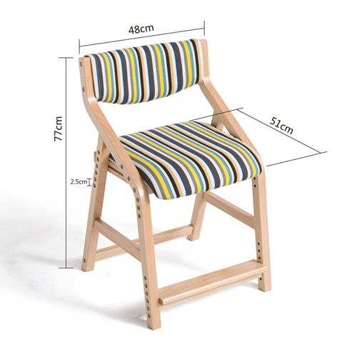 Wooden Adjustable Kids Chair Image 19