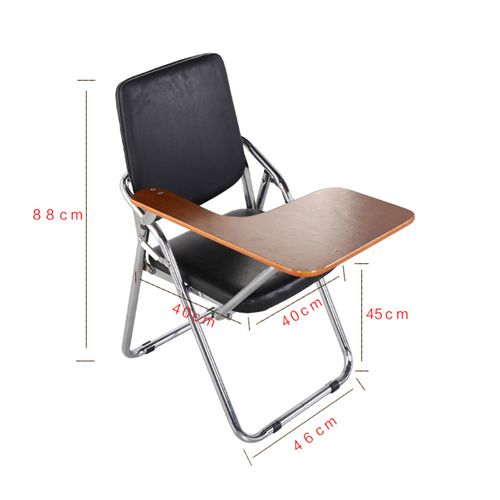 Leather Training Chair with Wooden Pad Image 14