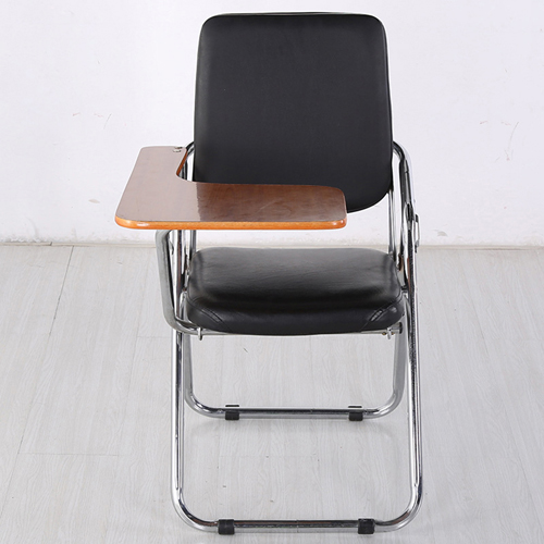 Leather Training Chair with Wooden Pad Image 1