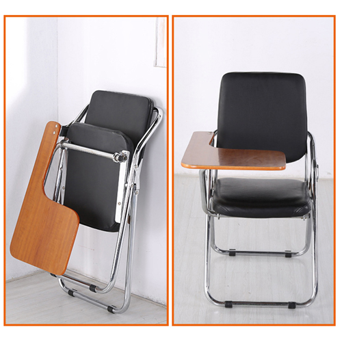 Leather Training Chair with Wooden Pad Image 6