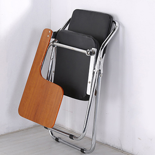 Leather Training Chair with Wooden Pad Image 7