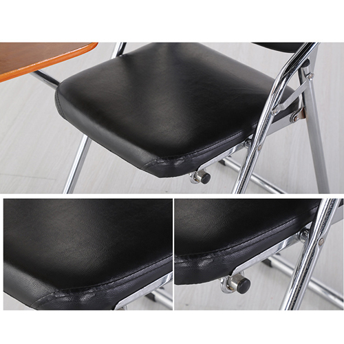 Leather Training Chair with Wooden Pad Image 8