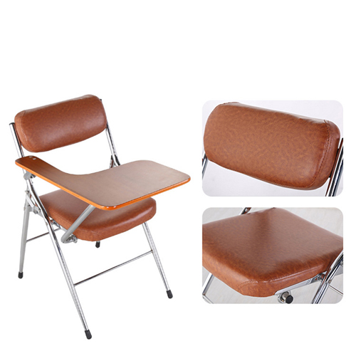 Tweezy Leather Foldable Chair with Writing Pad Image 9