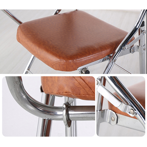 Tweezy Leather Foldable Chair with Writing Pad Image 10