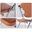 Tweezy Leather Foldable Chair with Writing Pad Image 11