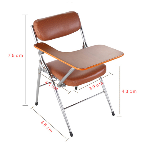Tweezy Leather Foldable Chair with Writing Pad Image 14