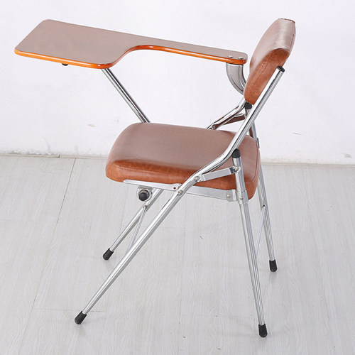 Tweezy Leather Foldable Chair with Writing Pad Image 1