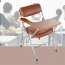 Tweezy Leather Foldable Chair with Writing Pad Image 4