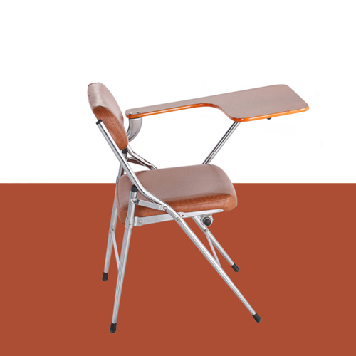 Tweezy Leather Foldable Chair with Writing Pad Image 5