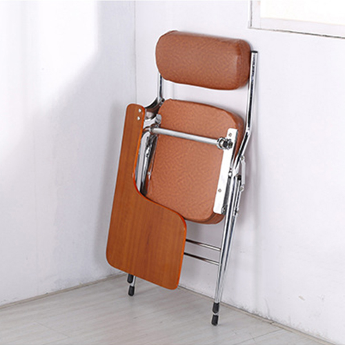 Tweezy Leather Foldable Chair with Writing Pad Image 6