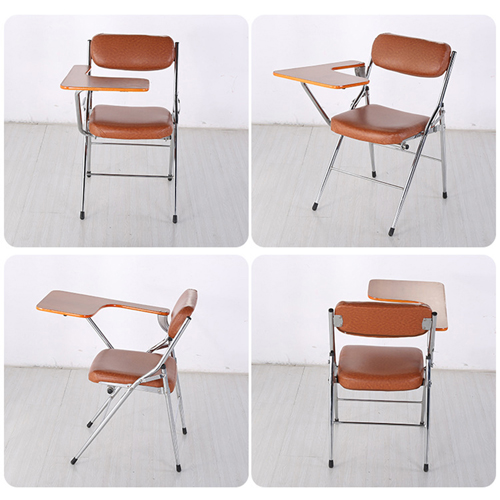 Tweezy Leather Foldable Chair with Writing Pad Image 7