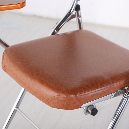 Tweezy Leather Foldable Chair with Writing Pad Image 8