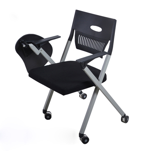 Wheelbase Foldable Chair With Writing Pad