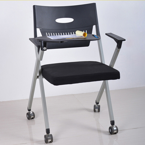 Wheelbase Foldable Chair With Writing Pad Image 10