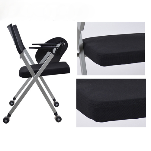 Wheelbase Foldable Chair With Writing Pad Image 12