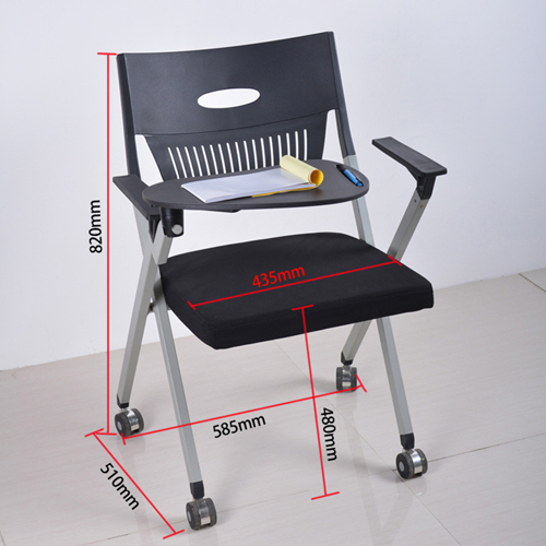 Wheelbase Foldable Chair With Writing Pad Image 13