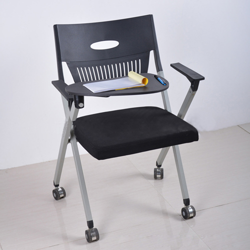 Wheelbase Foldable Chair With Writing Pad Image 1