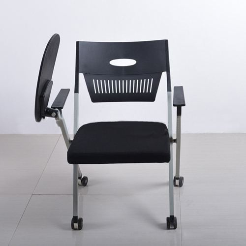 Wheelbase Foldable Chair With Writing Pad Image 3