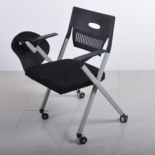 Wheelbase Foldable Chair With Writing Pad Image 5