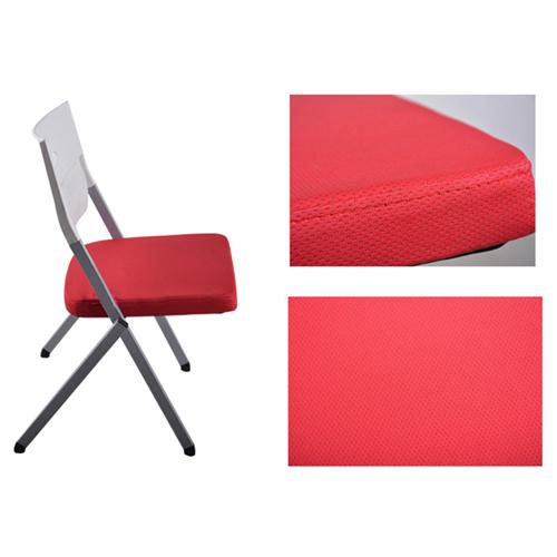 Sleeky Foldable Flat Padded Metal Chair Image 10
