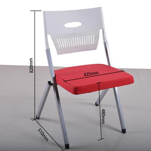 Sleeky Foldable Flat Padded Metal Chair Image 11