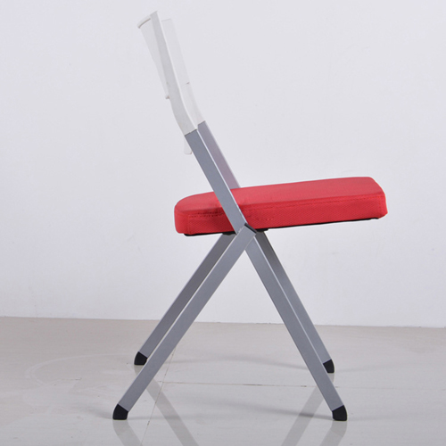 Sleeky Foldable Flat Padded Metal Chair Image 1