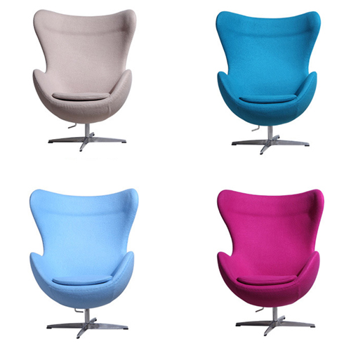 Artego Egg Swivel Wool Chair Image 13