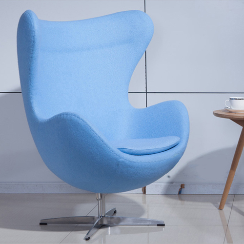 Artego Egg Swivel Wool Chair Image 1