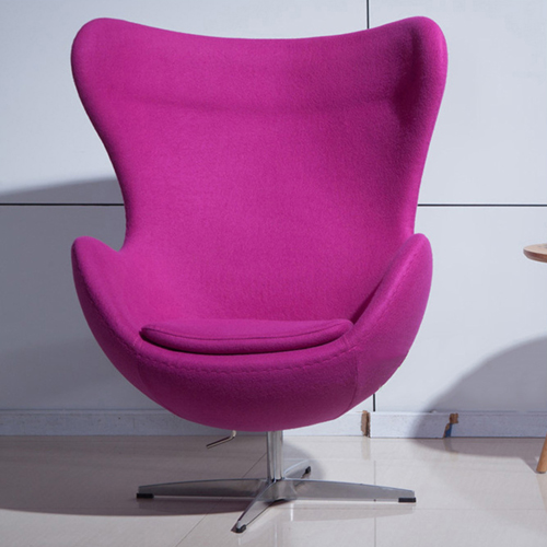 Artego Egg Swivel Wool Chair Image 2