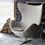 Artego Egg Swivel Wool Chair Image 3