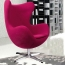Artego Egg Swivel Wool Chair Image 4