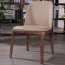 Rustic Leather Wood Chair Image 5