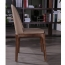 Rustic Leather Wood Chair Image 6