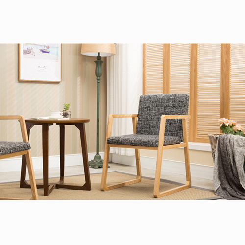Solid Ash Wood Armrest Chair Image 11