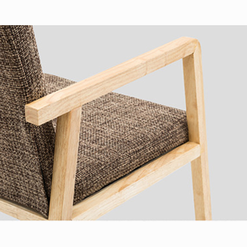 Solid Ash Wood Armrest Chair Image 17