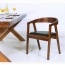 Sleek Wood Dining Arm Chair Image 9