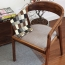 Sleek Wood Dining Arm Chair Image 11