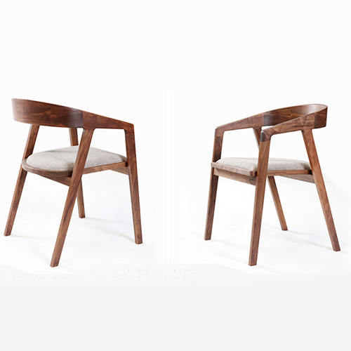 Sleek Wood Dining Arm Chair Image 12